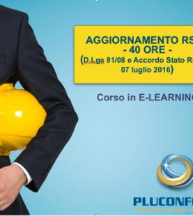 CORSO AGGIORNAMENTO RSPP 40 ORE